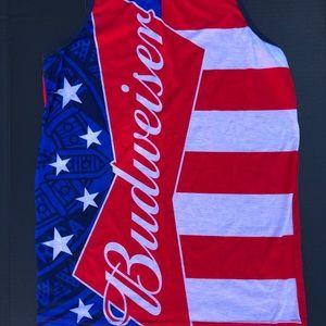 Budweiser ALL OVER Tank Muscle Tee Shirt